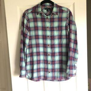 J. Crew | Plaid flannel button-down Size 00